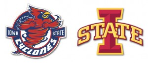 Iowa State Cyclones logos, previous and current, c. 2010