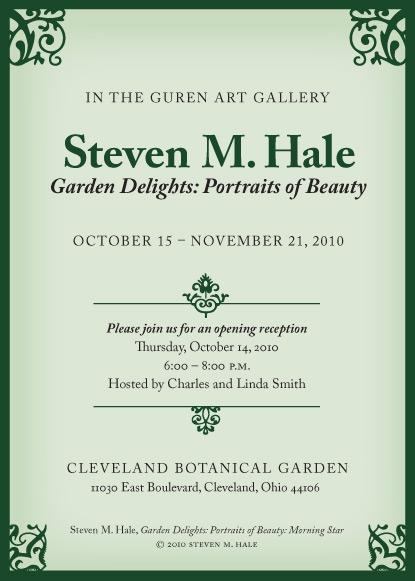 Announcement for Garden Delights photography exhibit