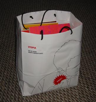 Schwag bag from 2010 paper fair