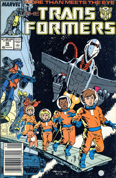 Cover of Transformers #36, mid 1980s