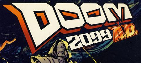 "Redesigned Doom 2099 (""A.D."" version) logo"