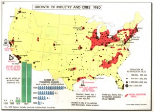 Map of U.S. industry, c. 1980