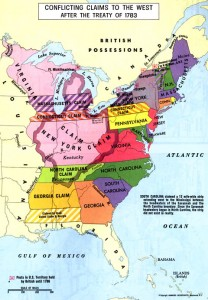 Competing territorial claims by American states