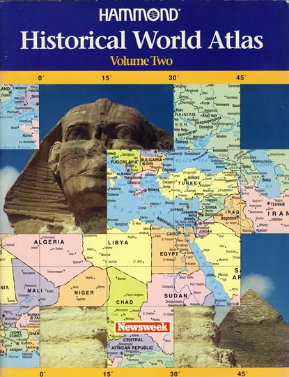 Cover of 1991 Hammond Historical World Atlas