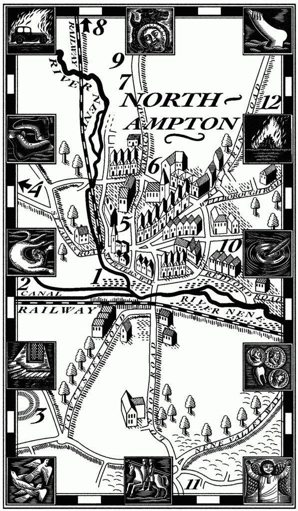 Map of Northampton from Voice of the Fire