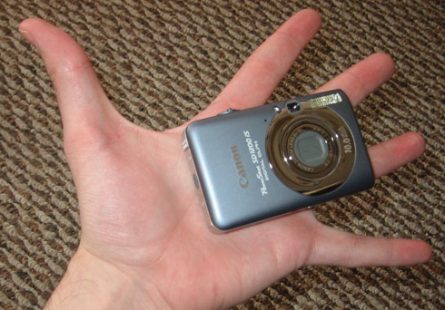 Big hand, small camera