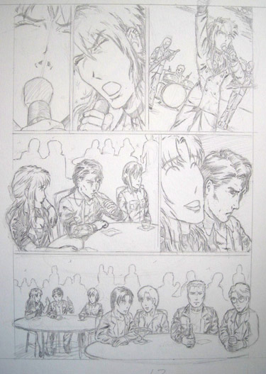 Sample page from BGC comic