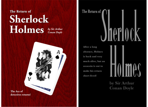 Student cover designs for The Return of Sherlock Holmes