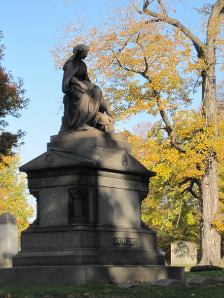 Monument in Lake View Cemetery, October 2011