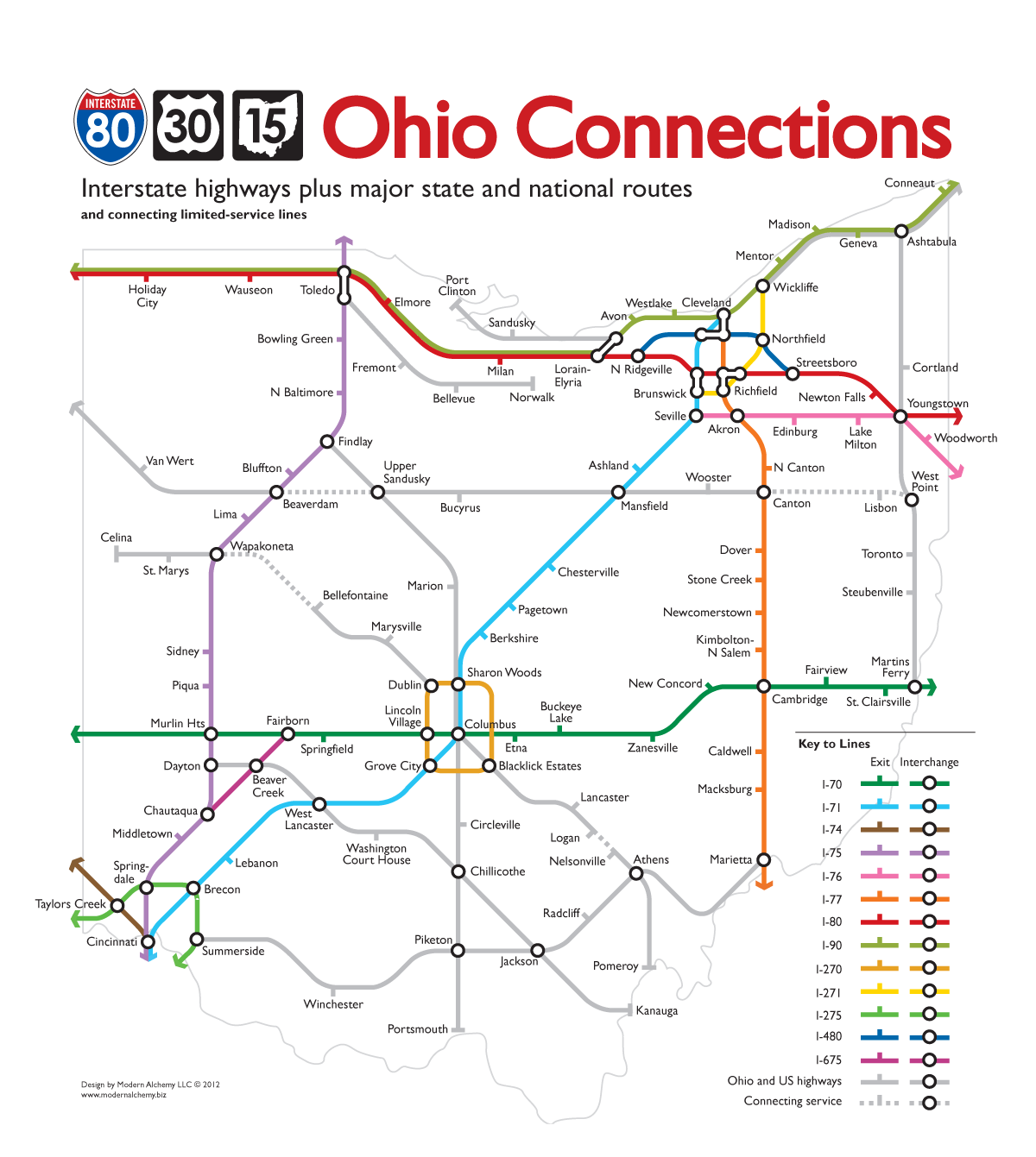 Simplified Map Of London.Ohio Highways Tube Map Modern Ideas