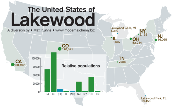 Map of Lakewoods of America by me
