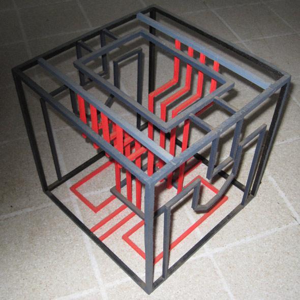 Balsa-wood cube