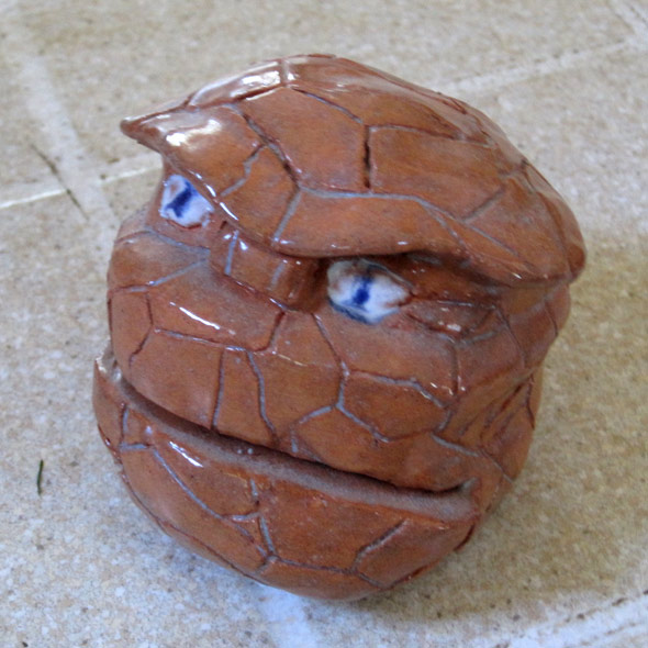Clay model of head of The Thing (originally designed by Jack Kirby)