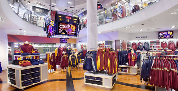 Lots and lots of Cavs merchandise