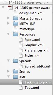 File structure of .idml file