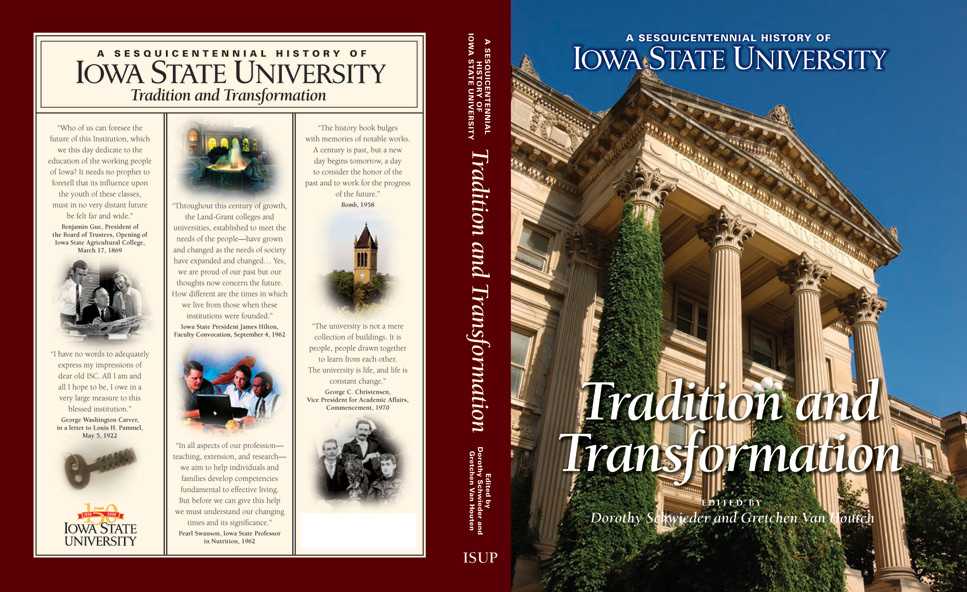 Front cover of ISU 150th Anniversary book