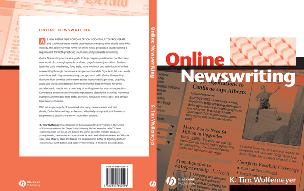 Front cover of 'Online Newswriting'