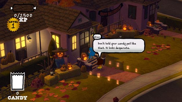 Costume Quest's Autumn Pines suburb