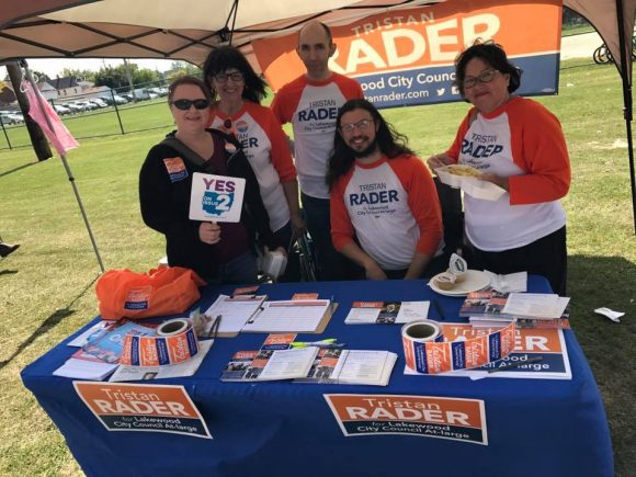 Rader campaign at Lakewood Community Festival