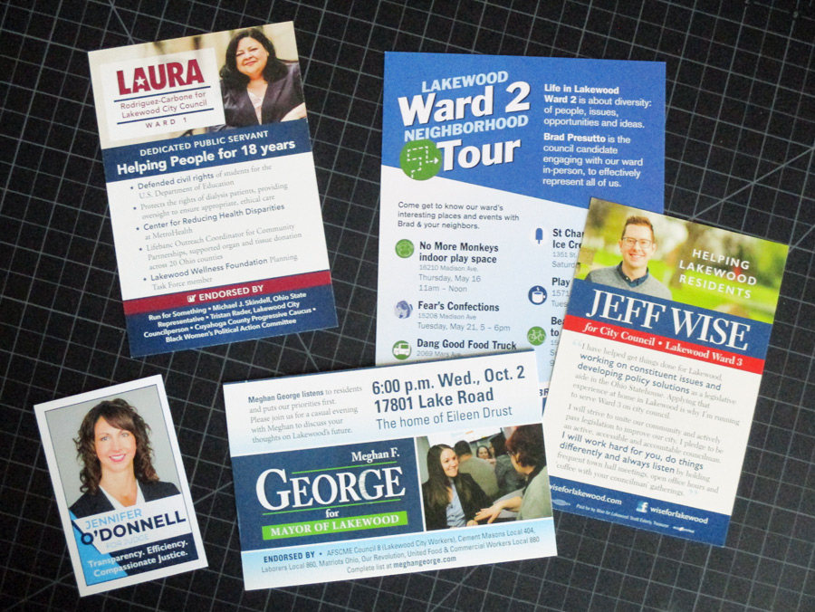 Campaign literature from 2019